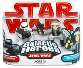 Galactic Heroes - Blockade Rebel Trooper and Stormtrooper RED