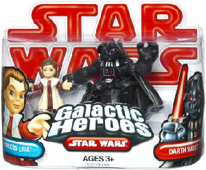 Galactic Heroes - Princess Leia and Darth Vader RED