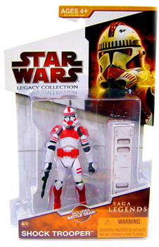 Clone Wars 2009 Red Packaging - Saga Legends - Shock Trooper