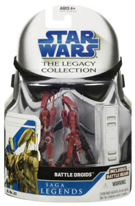 Clone Wars 2008 - Saga Legends - Battle Droids Red Variant