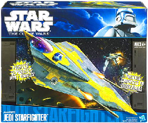 Clone Wars 2009 Black and Blue Box - Anakin Delta Starfighter