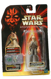 Jar Jar Binks with Gungan Battle Staff