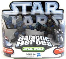 Galactic Heroes 2010 - Mandalarion Warrior and Pre Vizsla SILVER