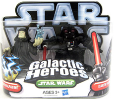 Galactic Heroes 2010 - Emperor Palpatine and Darth Vader SILVER