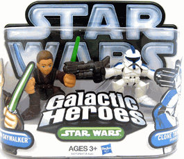 Galactic Heroes 2010 - Ep III Blue Clone Trooper and Anakin Skywalker SILVER