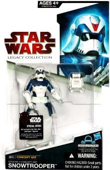 SW Legacy Collection - Build a Droid - Black Card - Concept Art Snowtrooper