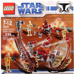LEGO Star Wars - Clone Wars Hailfire Droid and Spider Droid 7670