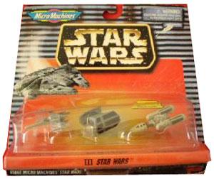 Micro Machine Star Wars III - X-Wing, Darth Vader Tie Fighter, Y-Wing