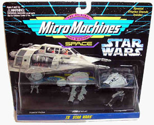 Micro Machines - Star Wars Collection IV - Imperial Probot, AT-AT, Snowspeeder