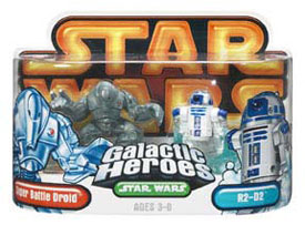 Galactic Heroes - Super Battle Droid and R2-D2 GOLD