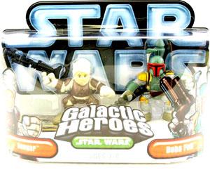 Galactic Heroes - Boba Fett and Dengar White Background