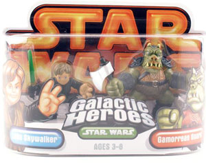 Galactic Heroes - Luke Skywalker and Gamorrean Guard GOLD