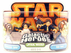 Galactic Heroes - Princess Leia and Han Solo GOLD