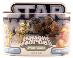 Galactic Heroes - Chewbacca and C-3PO SILVER