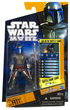 Clone Wars 2010 Black Orange Packaging - Saga Legends - Jango Fett