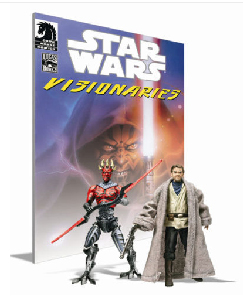 Star Wars Visionaries - Exclusive SDCC 2010 - Darth Maul Cyborg and Uncle Owen Lars