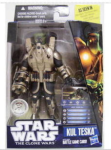 Star Wars Clone Wars 2010 - Black and Blue - Kul Teska Exclusive