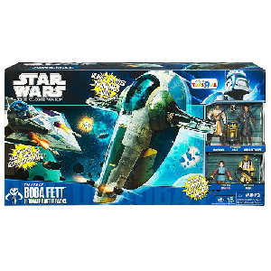 Clone Wars 2010 Black and Blue Box - Exclusive Ultimate Battle Pack Rise of Boba Fett