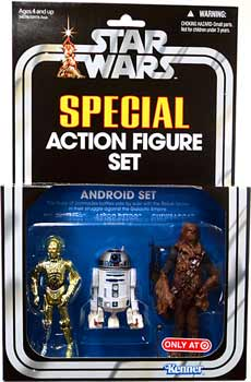 Kenner Special Exclusive 3-Pack Android Set - C-3PO, R2-D2, Chewbacca