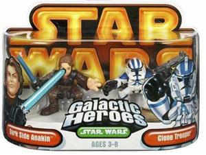 Galactic Heroes: Dark Side Anakin and Blue Clone Trooper GOLD