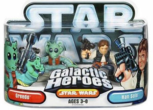 Galactic Heroes: Greedo and Han Solo