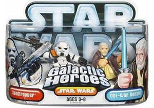 Galactic Heroes: Sandtrooper and Obi-Wan Kenobi