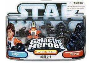 Galactic Heroes - Wedge and Tie Pilot SILVER
