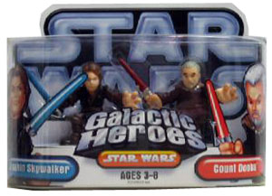 Galactic Heroes - Anakin Skywalker and Count Dooku SILVER