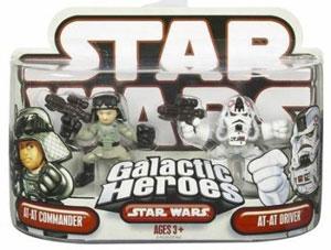 Galactic Heroes - AT-AT Commander and AT-AT Driver RED BACK