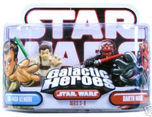 Galactic Heroes - Obi-Wan Kenobi and Darth Maul RED BACK