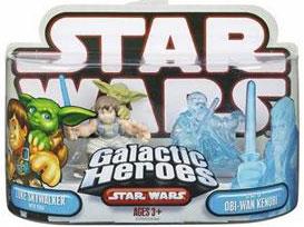 Spirit Obi-Wan Kenobi and Dagobah Luke With Yoda RED BACK