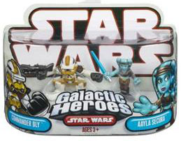 Galactic Heroes - Commander Bly and Aayla Secura RED BACK