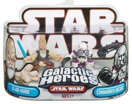 Galactic Heroes - Ki-Adi-Mundi and Commander Bacara