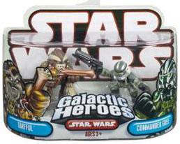 Galactic Heroes - Commander Gree and Tarfful RED BACK