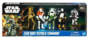 SDCC 2011 - Star Wars Republic Commando Delta Squad - Boss, Sev, Fixer, Scorch, Geonosian