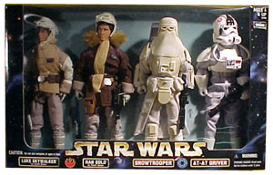 12-Inch Luke Skywalker Hoth , Han Solo Hoth, Snowtrooper, and AT-AT Driver