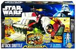 Clone Wars 2011 Black and Blue Box - Deluxe Vehicle Republic Attack Shuttle