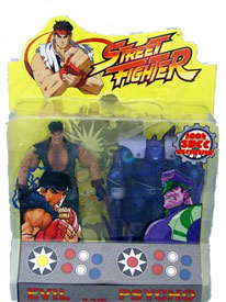 Street Fighter - Evil Ryu and Psycho Bison Twin Pack (Non Mint Condition)