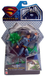 Silver Back Crystal Zipline Superman - Superman Returns