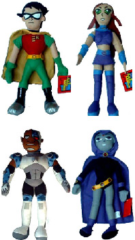 Teen Titans 8 inch Plush Set of  4
