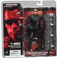 T-850 Terminator 3 with coffin