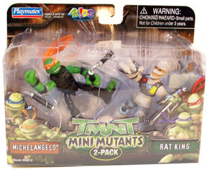 TMNT Mini Mutants - Michelangelo and Rat King