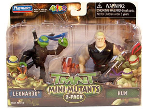 TMNT Mini Mutants - Leonardo and Hun
