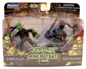 TMNT Mini Mutants - Donatello and Foot Tech Ninja
