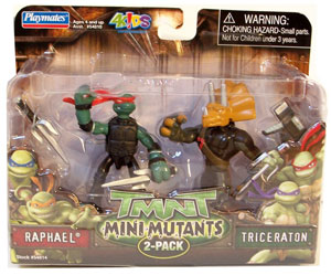 TMNT Mini Mutants - Raphael and Triceraton