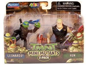 TMNT Mini Mutants - Leonardo and Hun