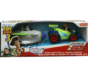 Toy Story 3 - Shake N Go Buzz Lightyear and Woody with RC Exclusive 2-Pack