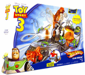 Toy Story 3 - Hot Wheels Die Cast Vehicle Track Set Claw Rescue
