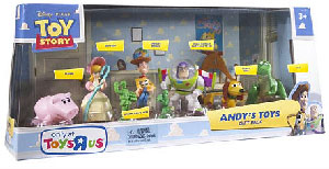 Toy Story - Andy Toys - 7-Pack - Woody, Buzz, Rex, Hamm, Slinky, Bo Peep and Army Man