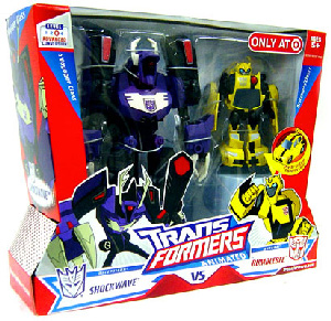 Animated Deluxe - 2-Pack: Shockwave VS Bumblebee